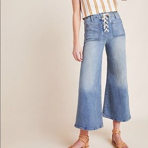MOTHER The Lace Up Cropped Jeans